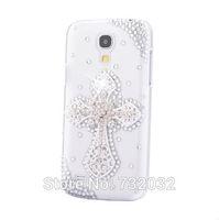 3D Bling Rhinestone Cross Mobile phone Case for iPhone 4 4S 5C 5S Samsung S3/S4/S5/Note2/Note3/S3 mini i8190/S4 mini i9190 Case