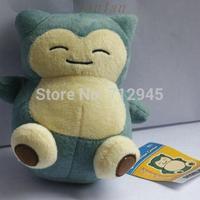 "Anime New Rare Pokemon Plush Toy Snorlax Plush 5.9"" 15cm Soft Stuffed Animal Doll For Kid Gif KaBiShou PC1585 Free Shipping"