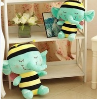 Selling of small bees like dolls Creative doll Mint green elephant plush toys