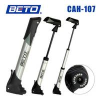 Beto Portable bicyle  pump aluminum alloy mini bike pump multifunction