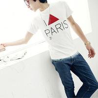 Fashion Boy Men Round Collar Short Sleeve Slim T-Shirt Casual Tee Tops Free&DropShipping