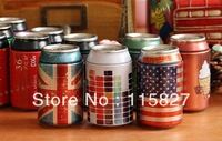 Free Shipping New!5pcs/lot Iron gift case metal storage case coin saver toothpick holder mini and lovely iron bottle candy can