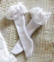 13# ACC White Lace Stockings/Socks 1/4 MSD BJD Dollfie
