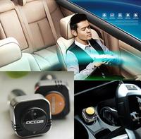 2014 New Fashion Healthy Multi Bluetooth headset with Car oxygen bar car charger Mini Car Impulse Anion Oxygen Bar Air Purifier