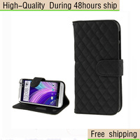 High Quality Plaid Texture Leather Case with Credit Card Slot Holder for HTC One M8 Free Shipping UPS DHL CPAM HKPAM