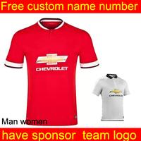 Manchester  jersey 14 15 women MATA Rooney Van v. Persie Giggs beckham Soccer Jersey Manchester Home Away Football Kit  short