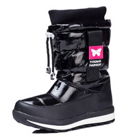 Hot Sale 2014 Winter Children's Boots Solid Knee-length Girls Boots Ankle Boots Thickening  Snow boots Waterproof Children Shoes