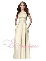 2014 hot selling elegant satin evening dress plus size straight women summer dress