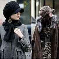 2014 Winter new Korean casual fashion ladies warm Wool Cable Knit Hat Free Shipping skt076