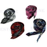 "New Hot Casual Mens Necktie Tie Narrow Skinny Slim 2"" Plaid Stripe Wholesale"