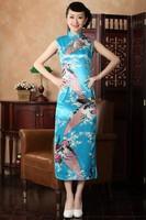 RED Chinese Women's Traditional Women's Evening Dress Cheongsam Size:S-2X L