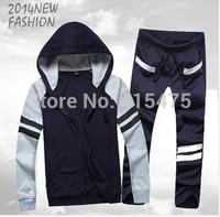 grey sweatshirt jogging clothes set pants male hooded man tracksuits korean style men street fashion sweatshirt men coat