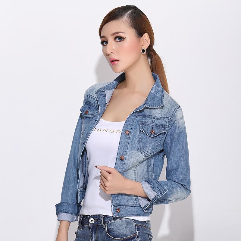 2014 long sleeve Retro jaqueta jeans feminina the north not face jacket women jaqueta college casual jacket colete feminino(China (Mainland))