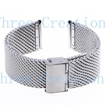 5 pcs 24mm unissex malha grossa aço assistir banda pulseira pulseira dobre sb0587 fivela de prata(China (Mainland))