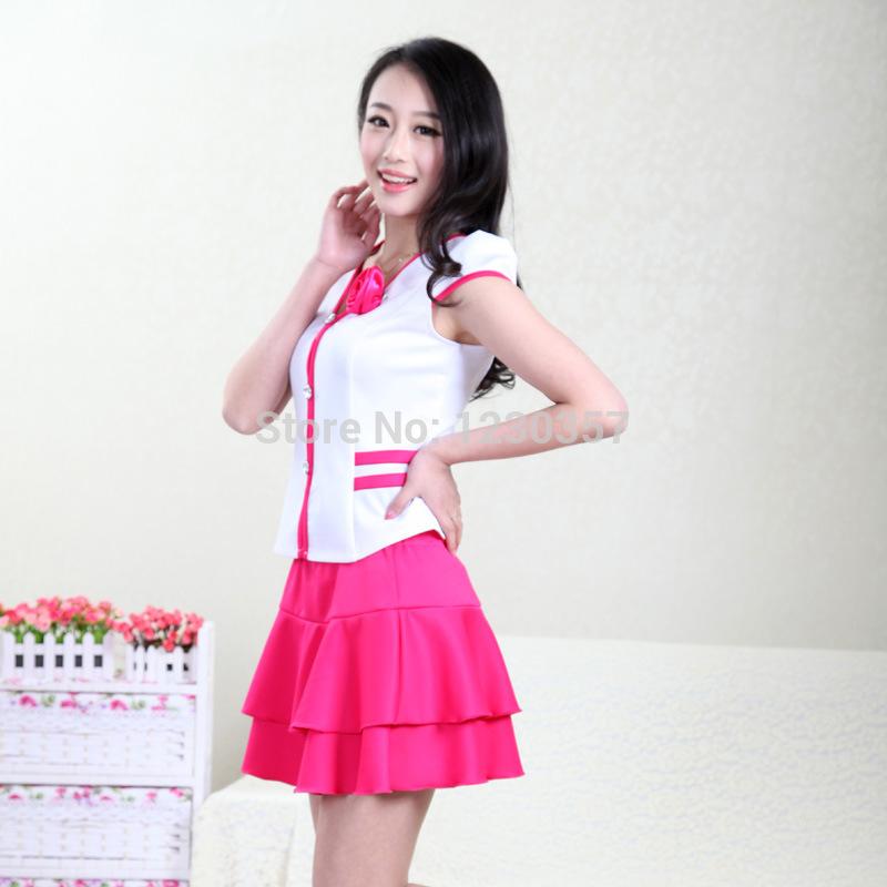 Uniform receptionist promotion online shopping for for Uniform for spa receptionist