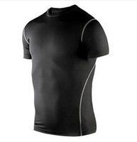 Tight-fitting short-sleeved men's sports and fitness training perspiration wicking short sleeve shirt short-sleeved T-shirt