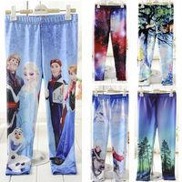 2014 spring fashion leggings for girls frozen leggings kids &child  pants a lot 5pcs  fantasia infantil children's clothing
