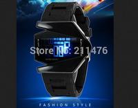 Min order mix wholesale retail Digital LCD LED Backlight Date Sportwatch waterproof Rubber Irregular fighter Sport Wrist Watch