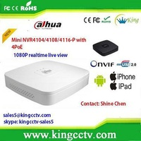 new arrival onvif nvr white NVR4104-P 4/8/16CH Smart 1U 4POE nvr kit