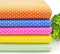 40cm*48cm Polka Dot printed patchwork quilting textile material 5pcs/lot Fat quarter cotton Fabric set Freeshipping