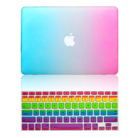 Rainbow Rubberized Hard Case Keyboard Cover For Macbook Pro Retina 13 15inch