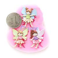 Silicone Soap Candy Mold Fondant Cake Chocolate Decoration Sugarcraft Elf Girl#58154
