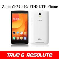 Original Zopo ZP520 4G FDD-LTE Cell Phone 5.5'' MTK6582M Quad Core 1GB+8GB Android 4.4 OS 8MP Camera GPS OTG 2400mAh Battery
