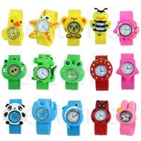 Free Shipping 1PC Cute Cartoon Unisex Children Kid Sports Bendable Rubber Strap Quartz Wrist Watch