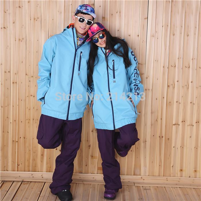 Free shipping 2014 Waka New C IN STOCK!Unisex Man woman snowboard jackets coats ski jackets couple WARM Fashion uniform Yellow(China (Mainland))