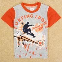 New kids C4955Y# 2Y/8Y 5pieces/lot  embroideryspring /summer child boys short sleeve T-shir