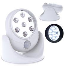Plastic 6W 7 LED Light 360 Degree Rotation Cordless Motion Sensor Indoor(China (Mainland))
