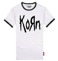 YAOCOK Shake KORN cotton lovers rock t-shirt men's and women's T-shirt