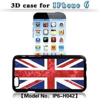 for Apple iphone 6 6G snap-on 3D United Kindom UK flag hard plastic back phone case for iphone 6 6G