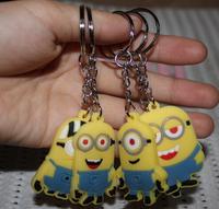 wholesale  new  kpop shinee kawaii cute 20pcs/lot  Cartoon animal Despicable Me  Minions key chains ring