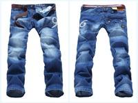 New 2014 Brand Men's Designer Jeans Fashion Men Sport Jeans Pants Large Size 28-38 Free Shipping Promotion Model 8219
