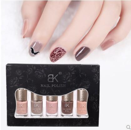 2014 new makeup solid candy nude color a set of 6 pieces nail polish Nail art tools Nail products(China (Mainland))