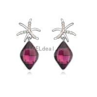 Fashionable Austrian Crystal MXinghai Wish Pattern Earrings - Multicolor
