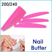 20 PCS Nail Buffer 2 Sides Buffing Slim Sandpaper DIY Manicure Nail File Tool Pink