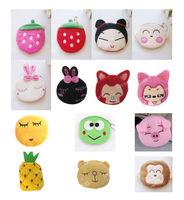 Portable Cute Cartoon Bag Change Coin Purse Case Plush Purse Handbag 14 styles