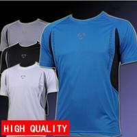NEW Mens Active Running T-shirt Casual Dry Quick Polyester Short Sleeve Play Shirt Cycling t-shirts M L XL XXL free shipping