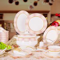 Ceramic dinnerware set 56 quality bone china tableware fashion marriage dinnerware set