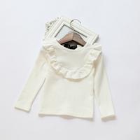 2014 New,girls autumn cotton t shirts tees,long sleeve,4 colors,1-7 yrs,5 pcs/lot,wholesale,1602