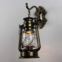 Wall lamps black copper bronze Vintage lantern wall lamp personalized kerosene lamp fashion iron wall lamp wall lights