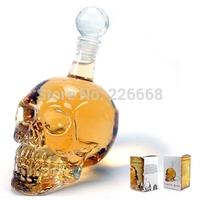 125ML Crystal Head Skull Bone Vodka Whiskey Glass Bottle Decanter Cup Home Bar