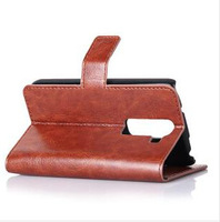 AAAAA+ Crazy horse wallet leather case For LG G2 mini Optimus D618 stand card holder (H502)