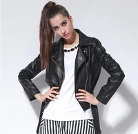 Europe and the United States women's Leather Motorcycle Jacket WO859