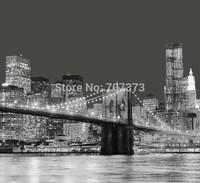Free shipping- Brooklyn Bridge New York City Nightsight Shower curtain 180X180cm
