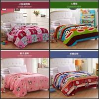 2014 upgrade Black Fleece Blanket coral velvet blanket printing with cartoon multi-functional blanket 200*230 little girl