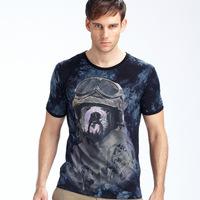 2014 Men's T Shirts Spring Summer T-shirts Male Short Sleeve Brand Design Man Top Tshirts 3D Noctilucent t shirt short sleeve