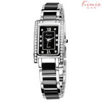 Promote KIMIO Brand Ladies Fashion Dress Watch, Rhinestone Decorative Watches, Waterproof Ceramic Quartz Watch, Free Shipping